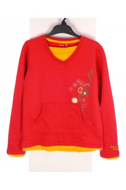 Mikina Manguun červeno žlutá vel 146-152/10-11 let