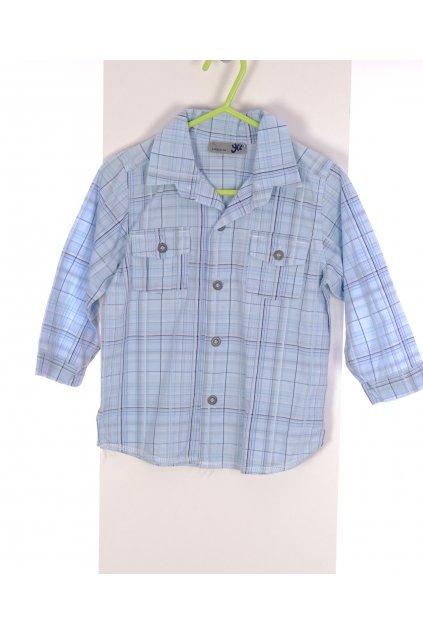 Košile chlapecká YCC modré káro vel 98/2 roky