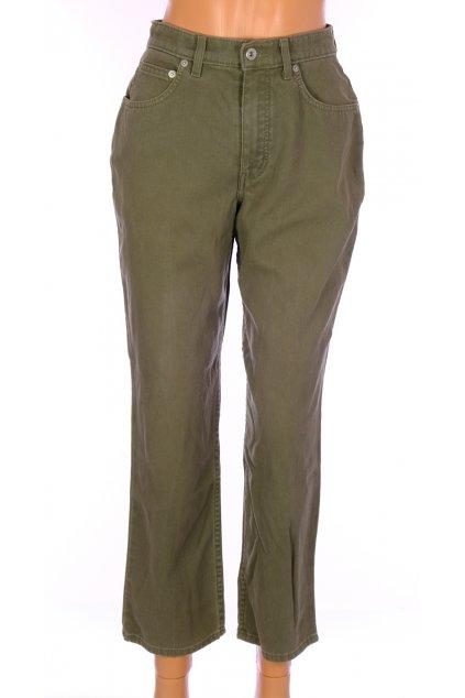 Kalhoty Marks&Spencer khaki zelené vel S