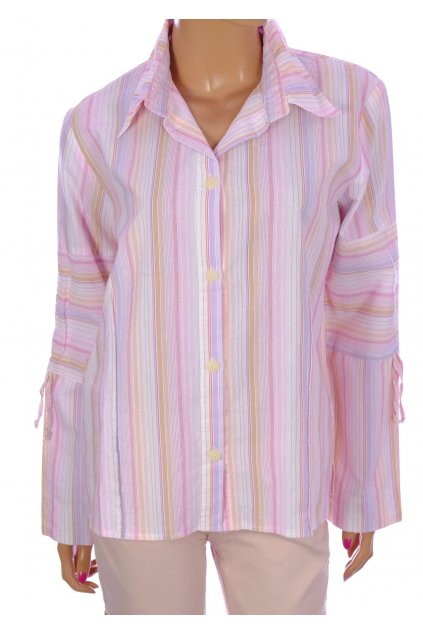 Halenka košile X-Mail světlá růžová proužkovaná vel M- XL