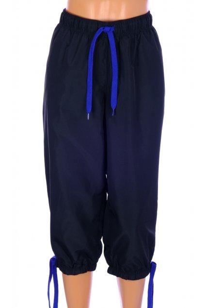 Kalhoty krátké Shamp černé sportovní šusťákové podšité síťovinou vel L