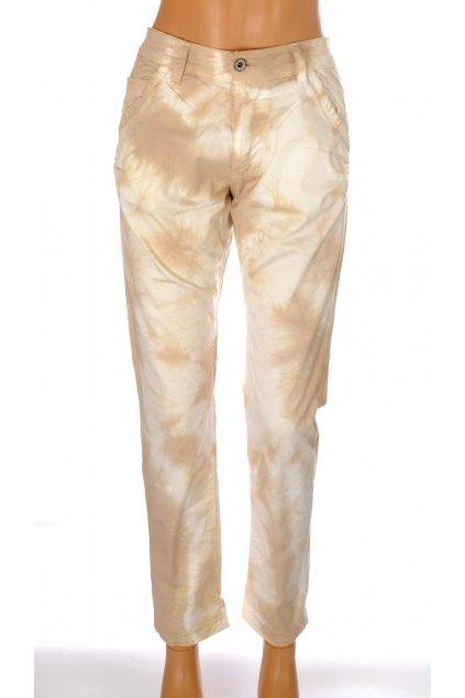 Kalhoty Please světle hnědé batikované vel M