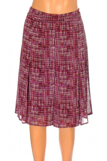 Sukně Mexx vínově červená s fialovým vzorkem vel S  vada