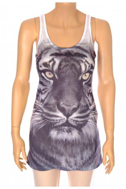 Tričko tílko One by One s obrázkem tygra vel XS