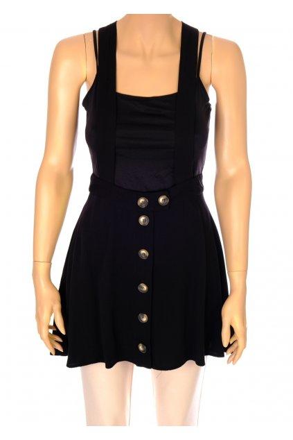 Sukně Asos černá na knoflíky šle na ramena vel S