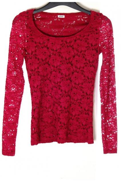 Tričko Pimkie červené krajkové vel XS