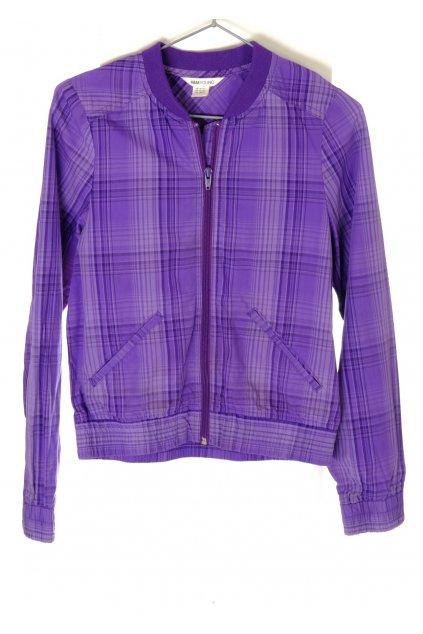 Bunda H&M fialová károvaná jarní letní vel 164/13-14 let