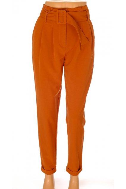Kalhoty Only hnědé s opaskem vel XS