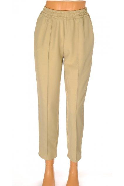 Kalhoty NA-KD béžové do gumy vel S