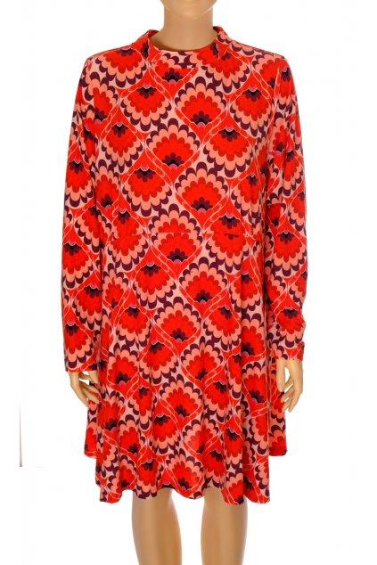 Šaty LebelBe červené se vzorem NOVÉ S VISAČKOU vel XXL