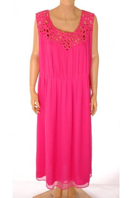 Šaty Asos růžové dlouhé u výstřihu vystřihovaná krajka vel XL VADA