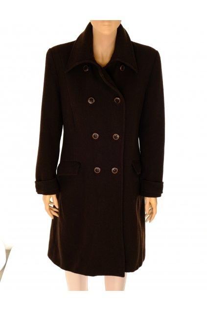 Kabát Caspar David hnědý dvouřadové zapínaní vel M vada