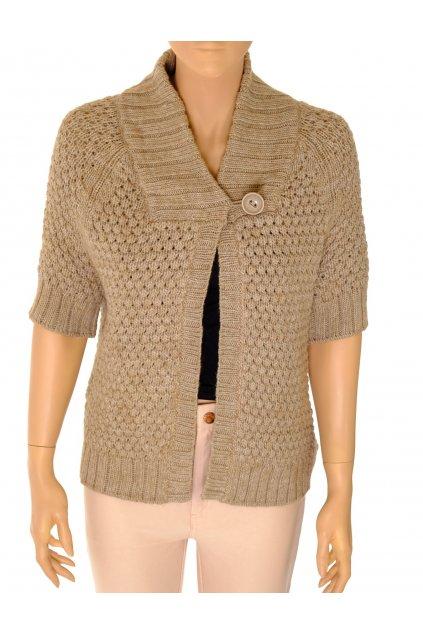 Svetr H&M kabátek béžový s krátkým rukávem vel M