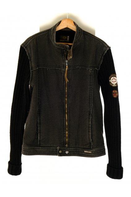 Bunda pánská Einstein Prod&Prog černá zateplená úplet rukávy vel XL