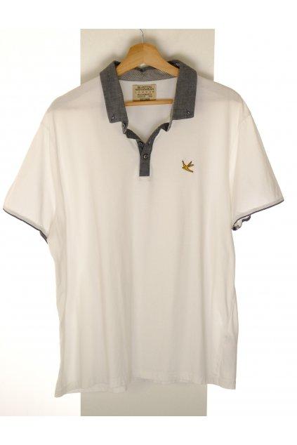 Tričko Burton Men Swear London bílé šedý límeček vel XL