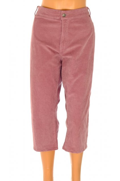 Kalhoty TU růžové krátké jemný manšestr vel XXL