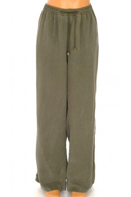 Kalhoty Ulla Popken khaki zelené vel XL/XXL