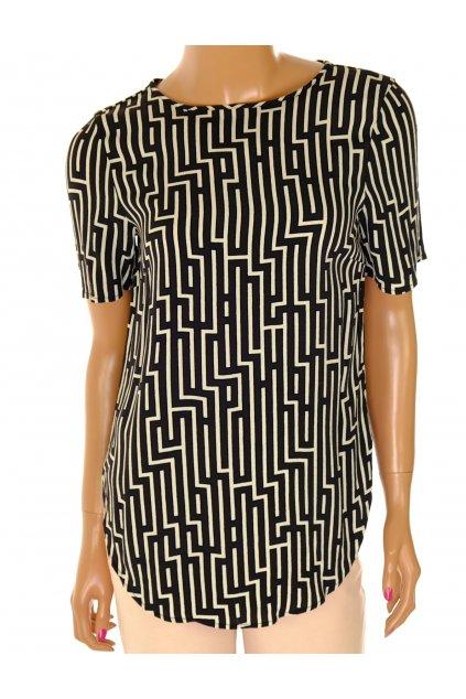 Halenka H&M černé a bílé klikaté čáry vel XS/S