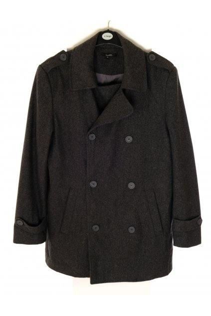 Kabát Dunnes šedý dvouřadové zapínání vel M