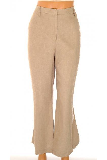 Kalhoty Artigiano béžové 100 % len vel L-XL