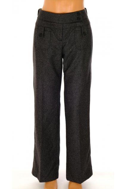 Kalhoty teplé Ted Baker London šedočerná melanž vel L 10% kašmír