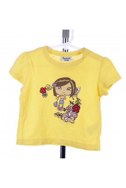 Tričko Impidimpi vel 74/80 žluté s obrázkem