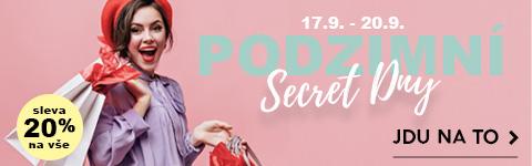 Podzimní slevy - Secret Dny - Sleva na vše 20%
