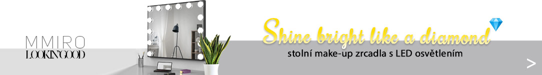 Stolní make-up zrcadla s LED osvětlením MMIRO - Shine bright lika a diamond