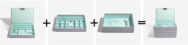 Box na šperky Stackers Grey Mint Classic Charm