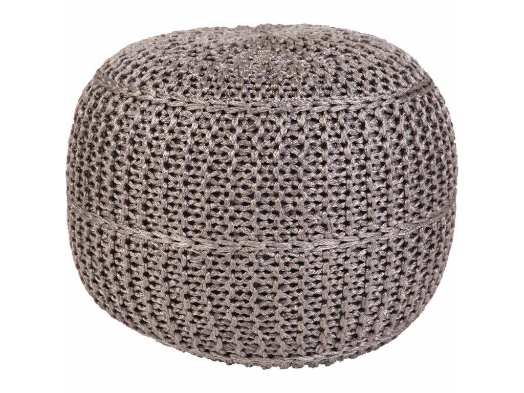 Pletený designový puf Exo 444 43x40 cm | Grey