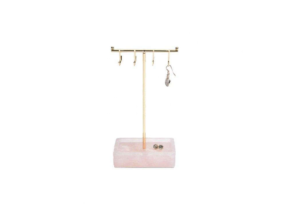 Stojan na šperky Stackers Small Rose Quartz T-Bar | růžová