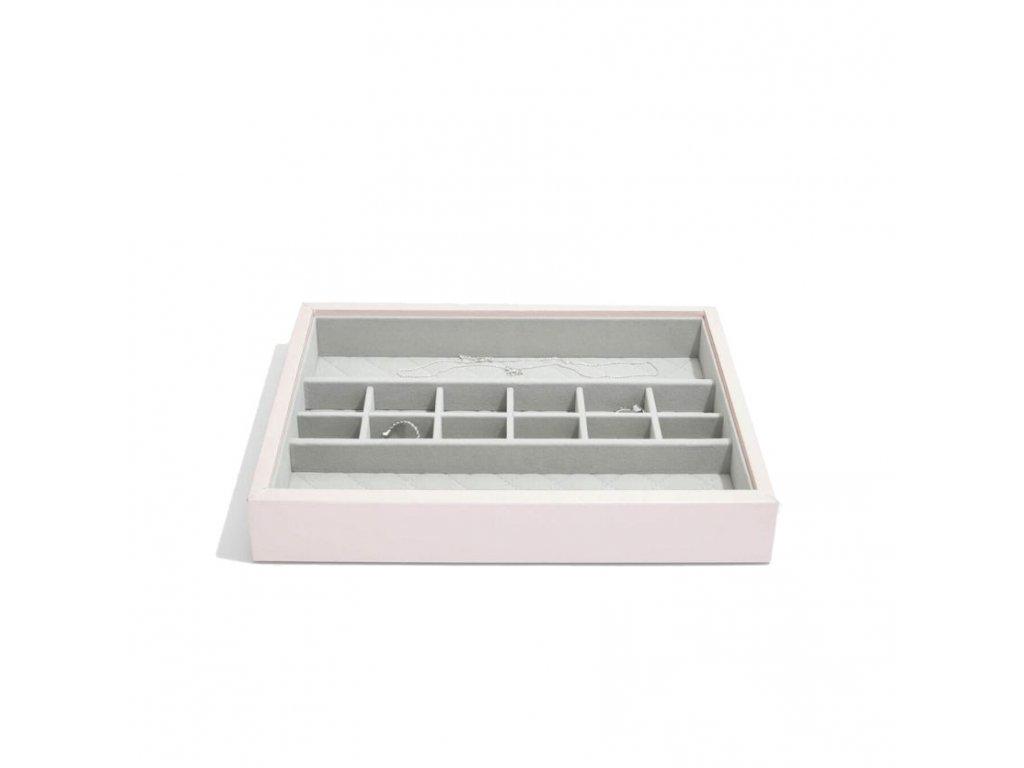 Box na šperky Stackers Blossom Pink Leather Small Accessories   růžová