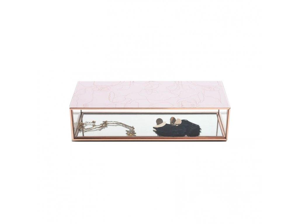 Krabička na šperky Stackers Blush Floral Sleek Trinket Box   růžová