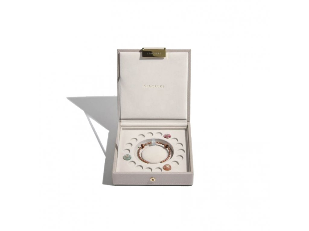 Šperkovnice Stackers Taupe Charm Box   šedobéžová