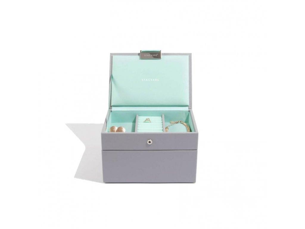 Šperkovnice Stackers Grey Mint Mini   tyrkysová