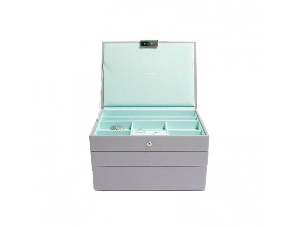 Šperkovnice Stackers Grey Mint Classic   tyrkysová