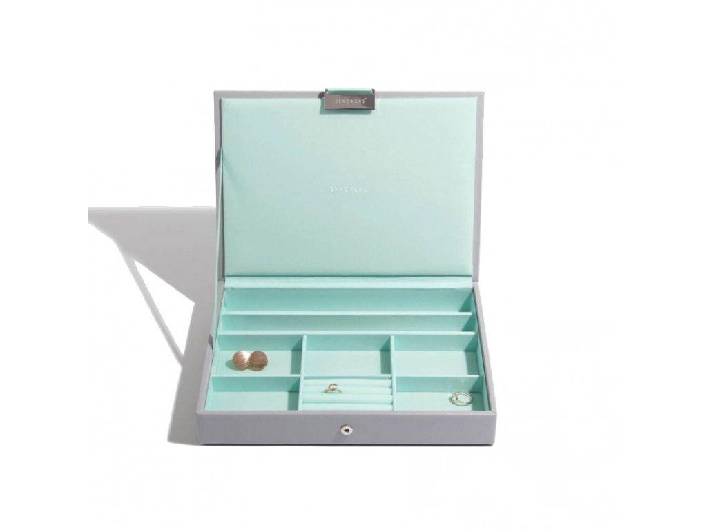 Šperkovnice Stackers Grey Mint Classic Lid | tyrkysová