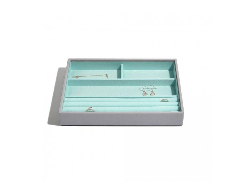 Box na šperky Stackers Grey Mint Classic 4   tyrkysová