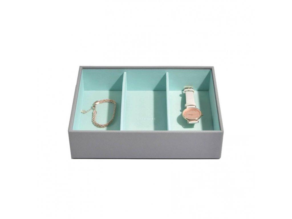 Box na šperky Stackers Grey Mint Classic 3 | tyrkysová