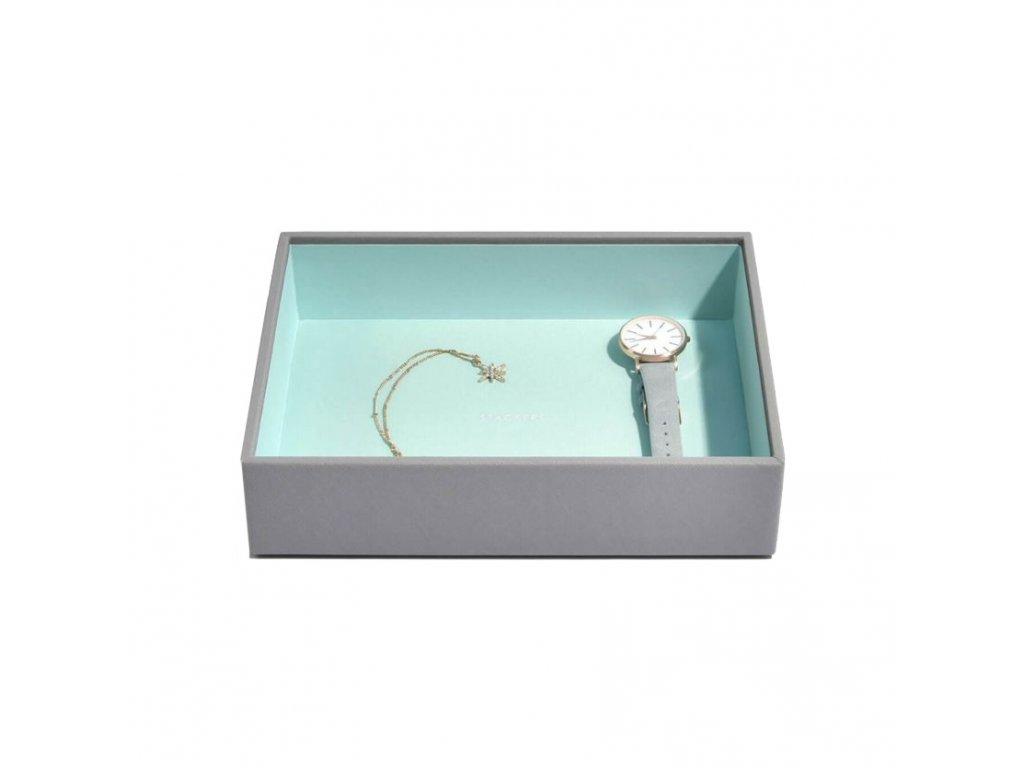 Box na šperky Stackers Grey Mint Classic Open | tyrkysová
