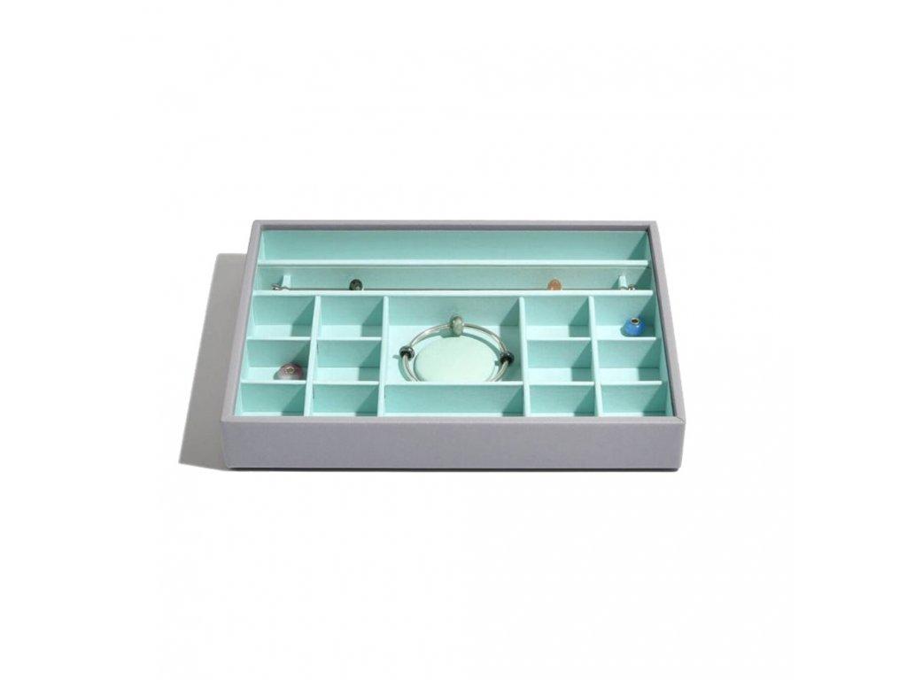 Box na šperky Stackers Grey Mint Classic Charm | tyrkysová