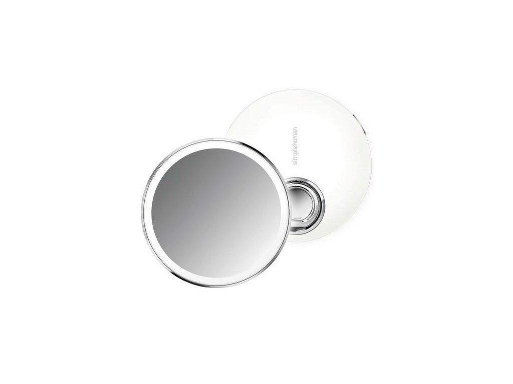Kapesní zrcátko s LED osvětlením Simplehuman Sensor Compact   nerez, bílá