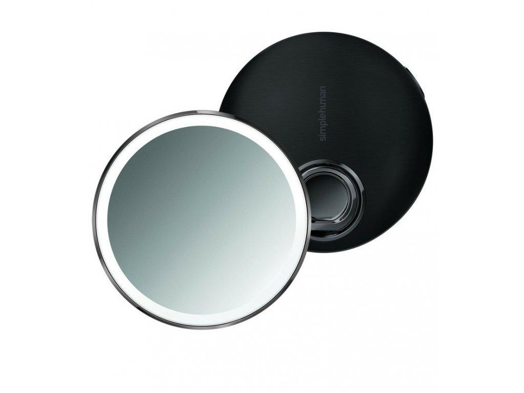 Kapesní zrcátko s LED osvětlením Simplehuman Sensor Compact | nerez, černá