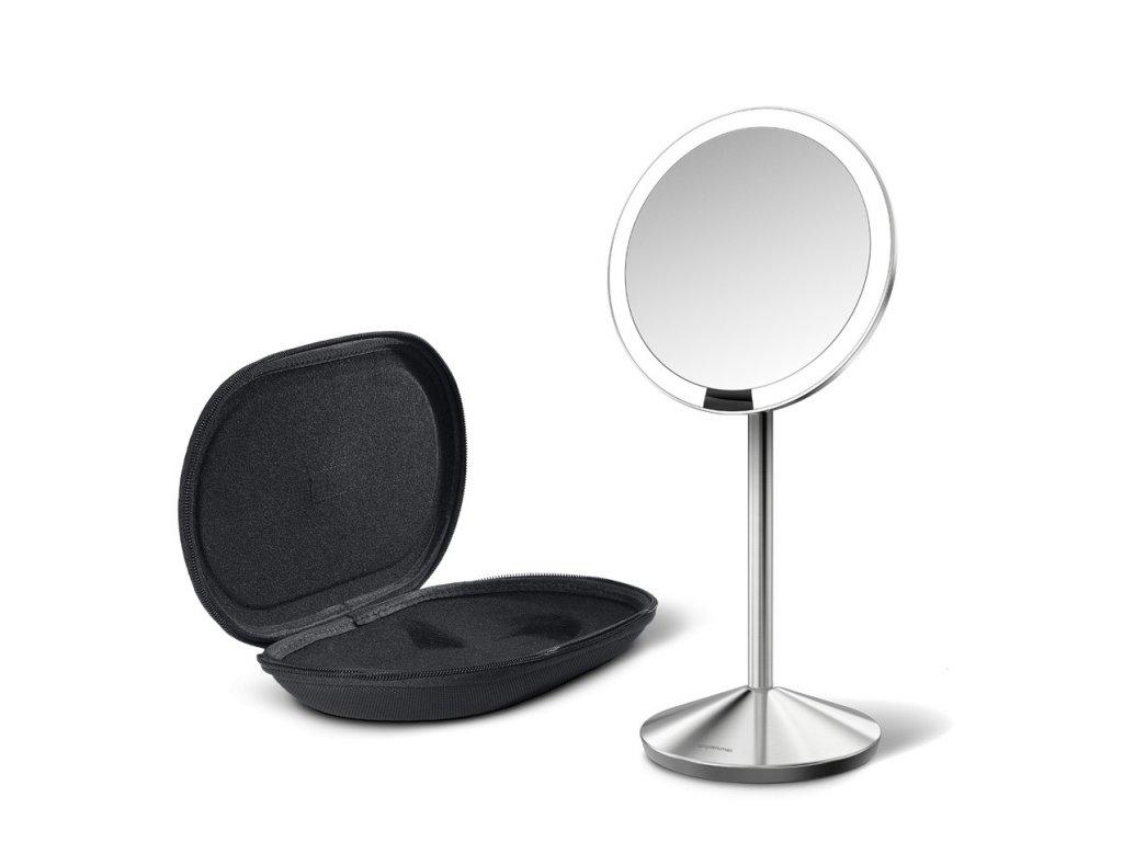 Cestovní kosmetické zrcadlo s LED osvětlením Simplehuman Sensor Mirror Mini | stříbrná