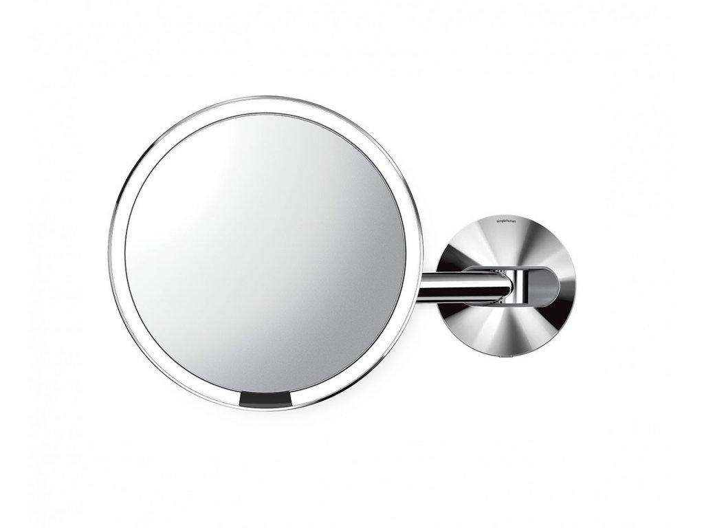 Nástěnné kosmetické zrcadlo s LED osvětlením Simplehuman Sensor, síťové, 20 cm | lesklá nerez