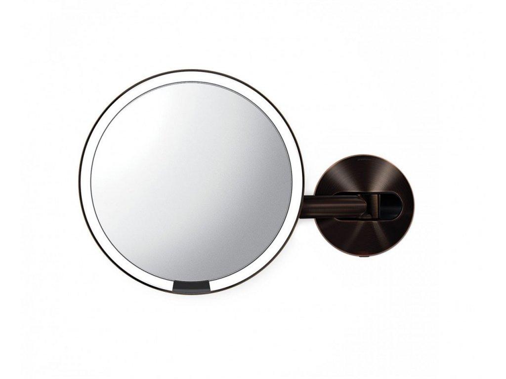 Nástěnné kosmetické zrcadlo s LED osvětlením Simplehuman Sensor, síťové, 20 cm | tmavá bronz