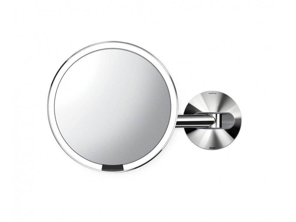 Nástěnné kosmetické zrcadlo s LED osvětlením Simplehuman Sensor, dobíjecí, 20 cm   lesklá nerez