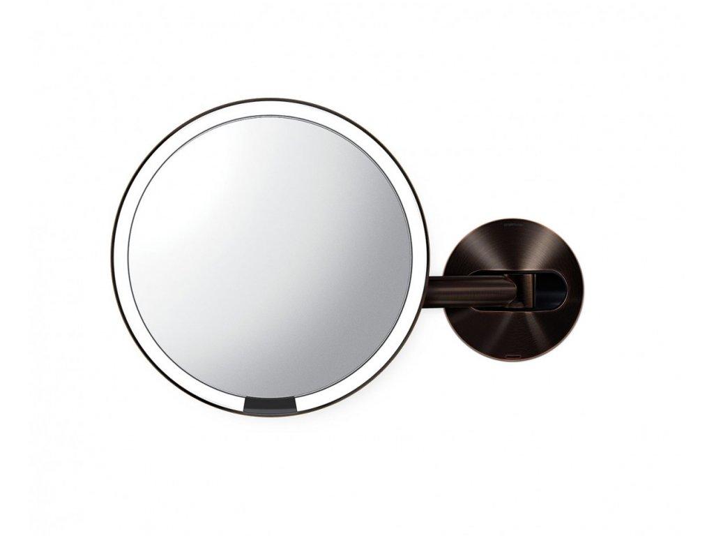 Nástěnné kosmetické zrcadlo s LED osvětlením Simplehuman Sensor, dobíjecí, 20 cm | tmavá bronz