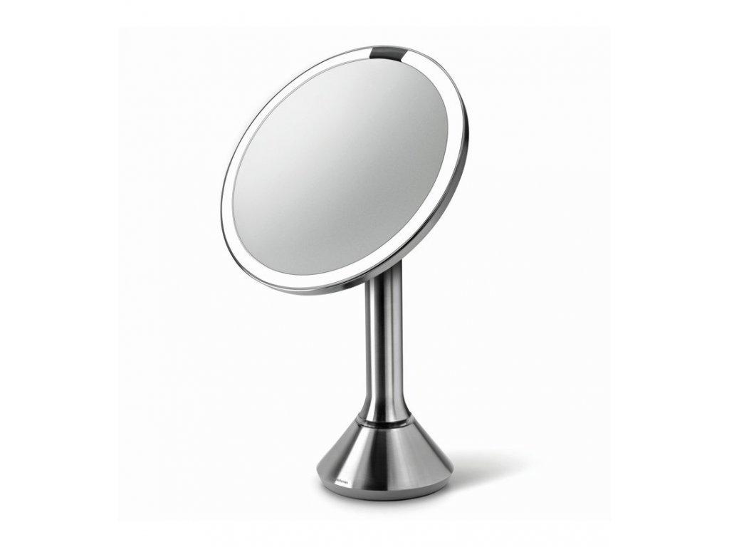 Stolní kosmetické zrcadlo s LED osvětlením a dotykovým ovládáním Simplehuman Sensor Mirror, 20 cm | stříbrná