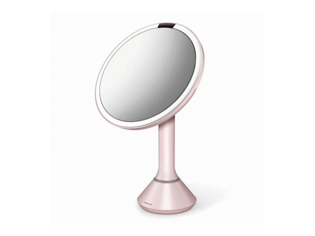 Stolní kosmetické zrcadlo s LED osvětlením a dotykovým ovládáním Simplehuman Sensor Mirror, 20 cm | růžová